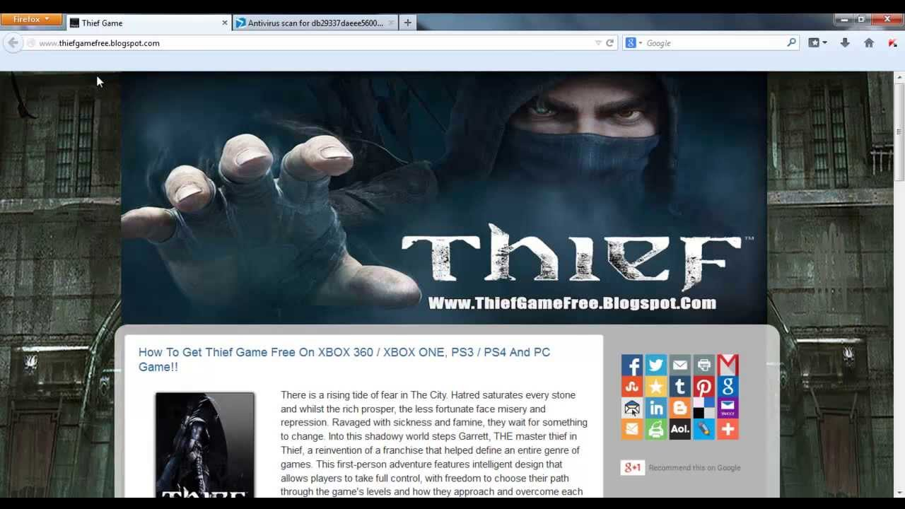 How To Download Thief Game Free On Xbox 360 Xbox One