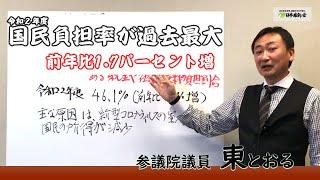 2021 03 08 令和二年度 国民負担率が過去最大 前年比1.7パーセント増 東徹(日本維新の会)