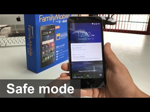 How to get ZTE ZFive G IN & OUT of Safe Mode - YouTube