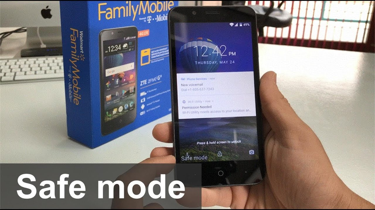 How to get ZTE ZFive G IN & OUT of Safe Mode
