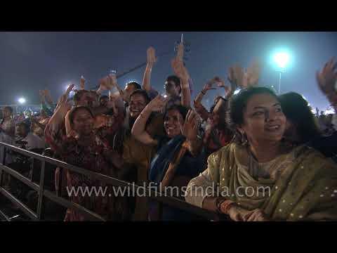 Actress Tamannaah Bhatia and Kajal Aggarwal dance to Isha Sounds : Mahashivratri celebration 2019