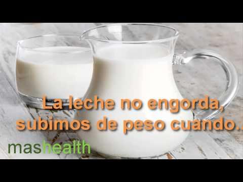 la leche engorda