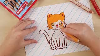 رسم القطة