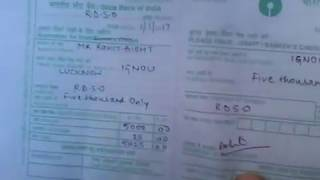 Learn to fill SBI Demand draft slip..correctly..simplified