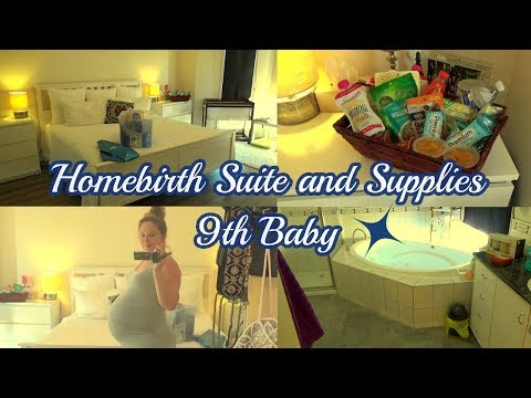 Home Birth Supplies and Set-Up | My Home birth Space - 9th Baby