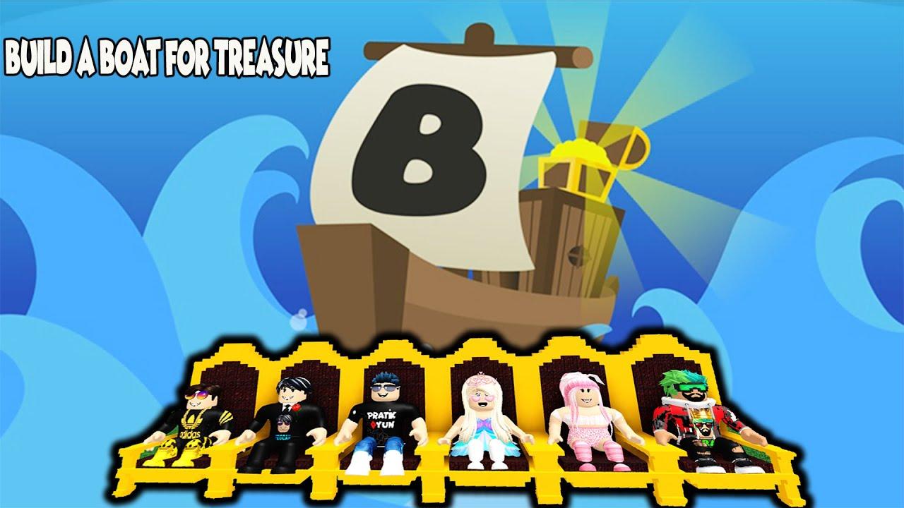 HAN KANAL İLE BATMAYAN GEMİ YAPTIK !!!   Build A Boat For Treasure   Roblox Türkçe