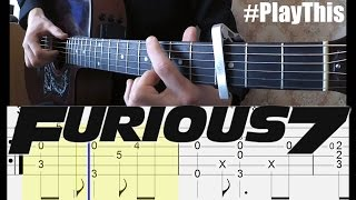 Тема из Форсаж 7 | Как играть на гитаре (See you Again) + ТАБУЛАТУРА  | Уроки гитары от PlayThis#23