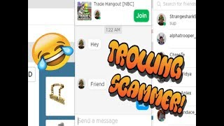 TROLLING SCAMMER #1 - (ROBLOX)