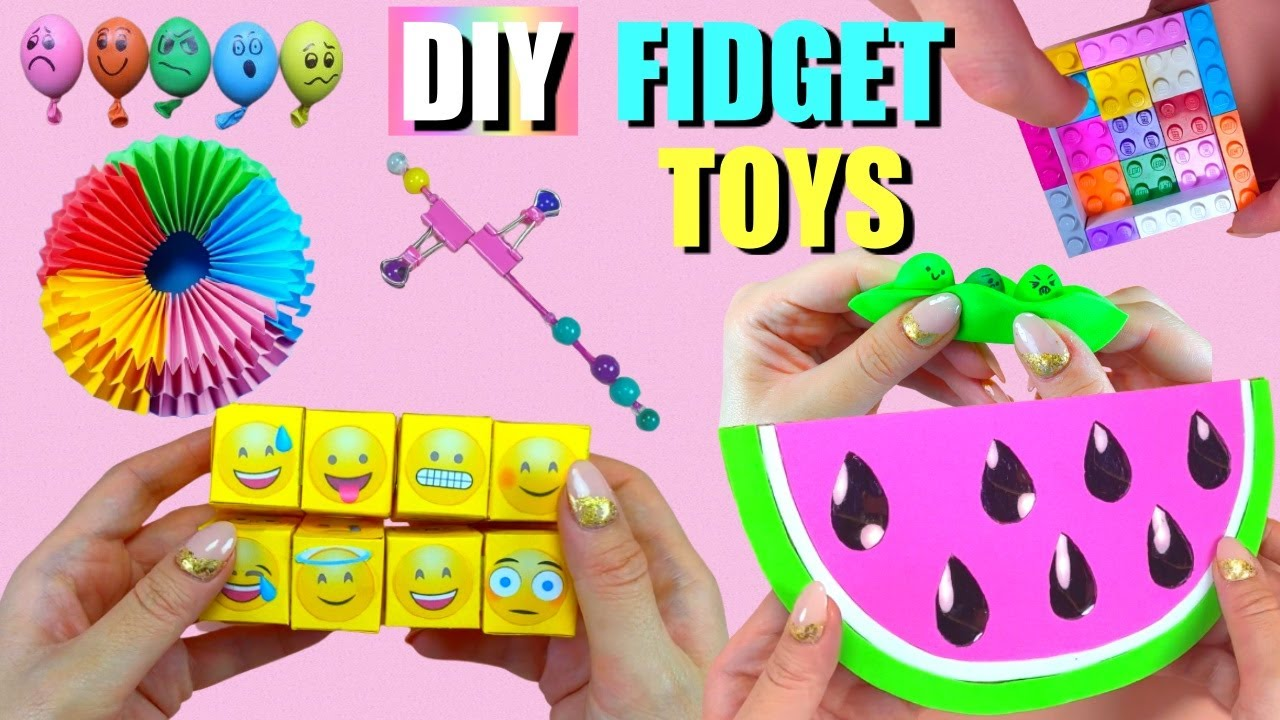 Download 7 DIY FIDGET TOYS IDEAS - HOW TO MAKE EASY FIDGET TOYS AT HOME - Watermelon Pop it and more..