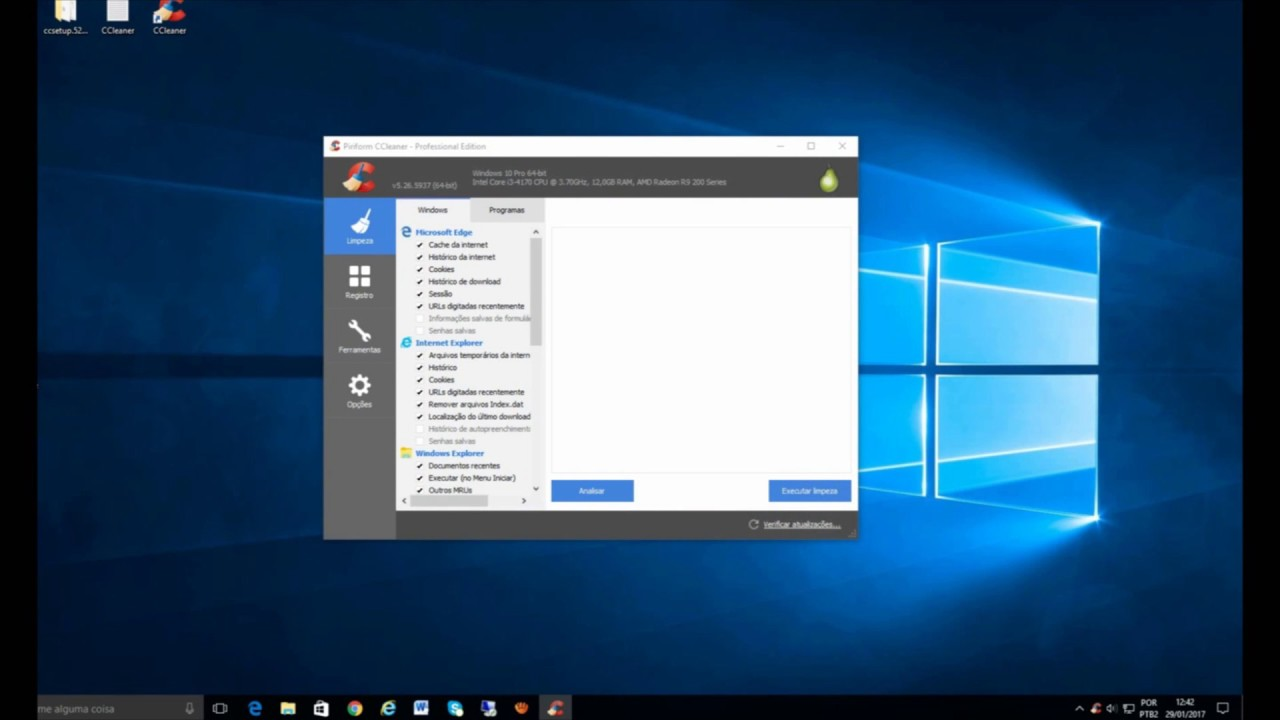 ccleaner windows 10 2017 professional activeition - YouTube