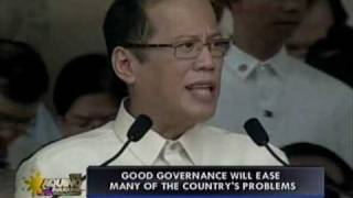 p noy inaugural address part 1 of 3