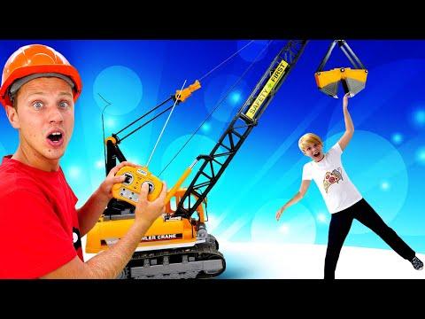Игры для мальчиков - Супергерои и большие машины на стройке! - Видео игры с машинами