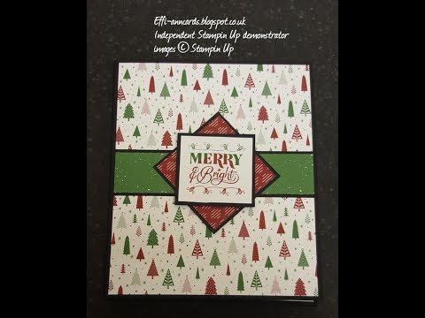 Be Merry Waterfall photo album using Stampin Up supplies