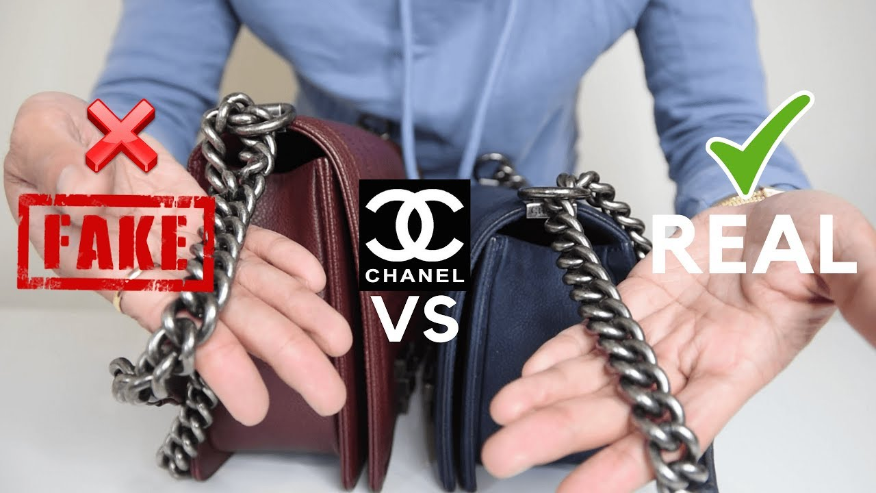 360cf30b311b CHANEL SUPER FAKE VS REAL CHANEL BOY BAG: A COMPARISON| PART 2 - YouTube