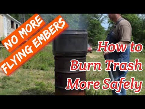 How to Burn Trash More Safely
