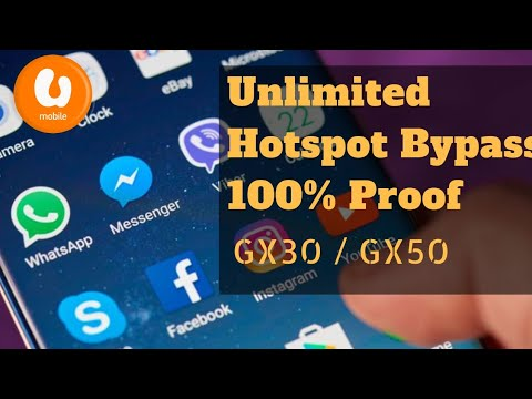 UMobile GX30/GX50 Hotspot Unlimited Bypass 100% Proof (Without Boot)