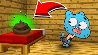 Minecraft: GUMBALL DID THIS IN MY WORLD! (Ps3/Xbox360/PS4/XboxOne/PE/MCPE)