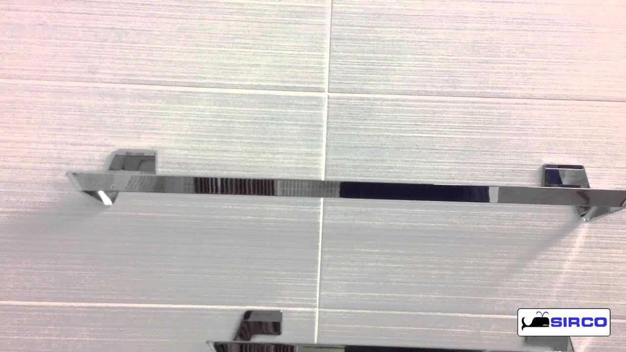 Accessori da bagno adesivi da incollo a parete serie lavi 39 youtube - Accessori x il bagno ...