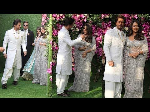 Shah Rukh Khan And Gauri Khan's Royal Entry At Akash Ambani - Shloka Mehta's Wedding Ceremony