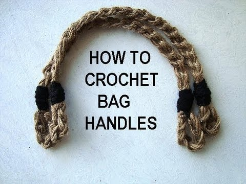 Free Crochet Purse Patterns With Wooden Handles : HOW TO CROCHET BAG handles, PURSE HANDLES, diy, Easy bag ...