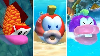 Evolution of Cheep Cheep Minigames in Mario Party (1998-2017)