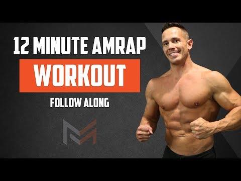 12 Minute AMRAP Workout Follow Along Full Body Workout