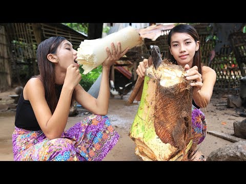 Primitive Technology: Survival skill cooking Khmer food recipe | Wilderness Technology