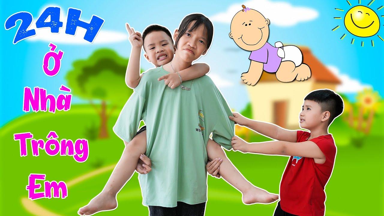 Download Thử Thách 24h Trông Em ♥ Min Min TV Minh Khoa