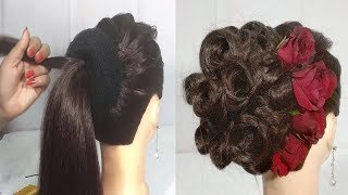 Juda hairstyle for Wedding/party || Perfect Bridal Bun step by step || Hairstyles girl || hairstyle