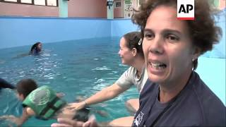 Some autistic and developmentally challenged Cuban children played ...
