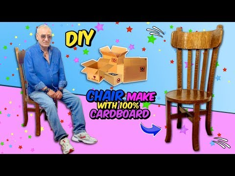 AWESOME CARDBOARD CRAFTS IDEAS DIY A CHAIR WITH CARDBOARD 100%