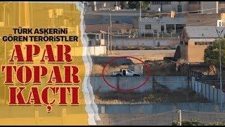 Türk Askerini Gören Teröristler Böyle Apar Topar Kaçtı