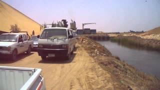 قناة السويس الجديدة : فيديو حصرى لترعة سيناء قبل عبورها أسفل قناة السويس الجديدة مايو2015