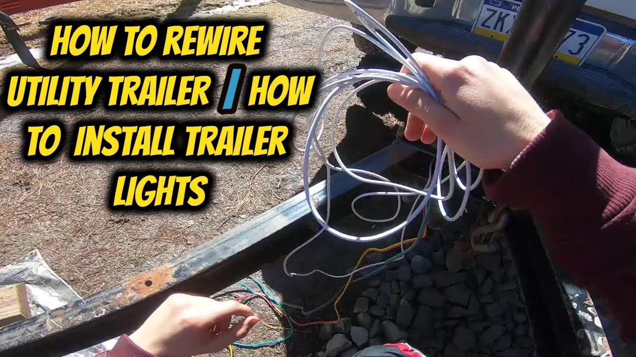 hight resolution of how to rewire utility trailer how to install trailer lights youtube how to rewire utility trailer