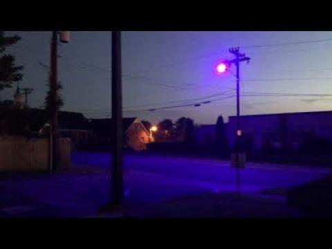Some street lights cast a purple glow! VACCINE BIOWEAPON BIOMARKER CONSPIRACY!