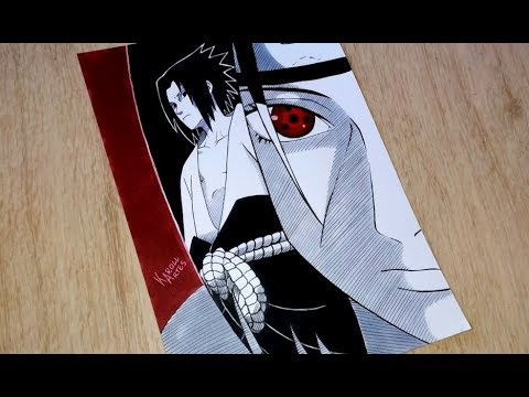 Speed Drawing Uchiha Brothers - Sasuke and Itachi (Naruto Shippunden ナルト)