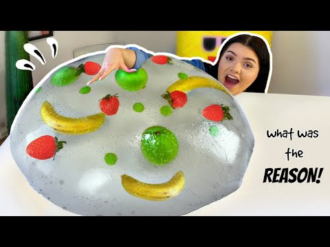 Attempting the BIGGEST Raindrop Cake Ever! Giant Clear Jelly Cake