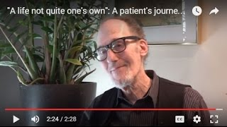 """""""A life not quite one's own"""": A patient's journey with chronic pain and opioid addiction"""