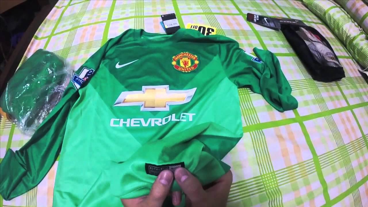 66972e9619e Nike Manchester United Goalkeeper Kit 2014/2015 - YouTube