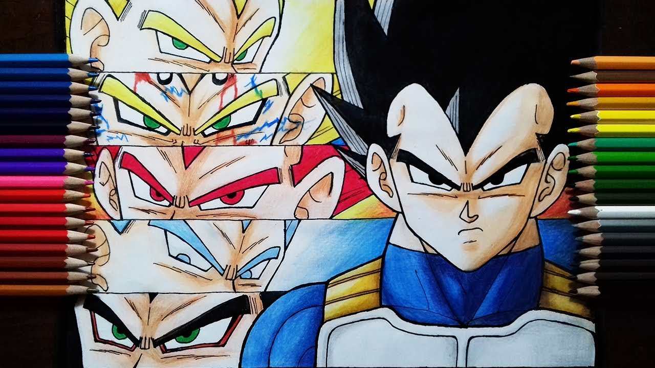 Drawing vegeta all forms youtube - Vegeta all forms ...