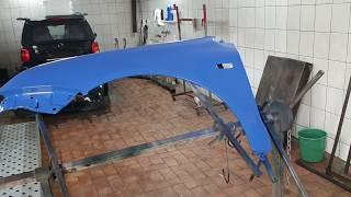 Кузовной ремонт Toyota Verso. Покраска крыла из баллончика.