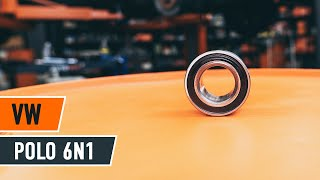 Montavimas Rato guolis VW POLO (6N1): nemokamas video