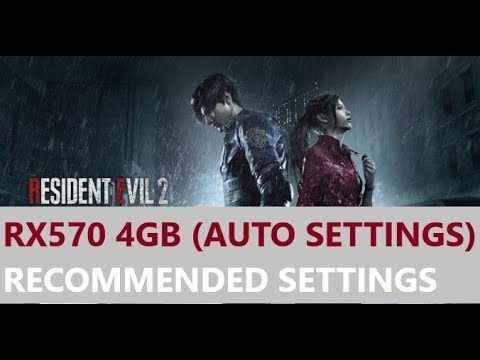 Resident Evil 2 Remake (RX570 4GB) Benchmark Gameplay - RECOMMENDED  Settings [DX11] 1080p60fps