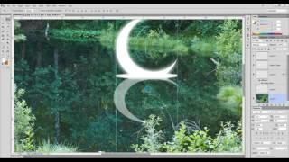 www.dizgraf.net Видео урок. Делаем ночное озеро с луной