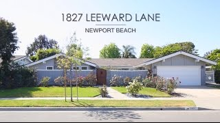 1827 Leeward Lane in Newport Beach