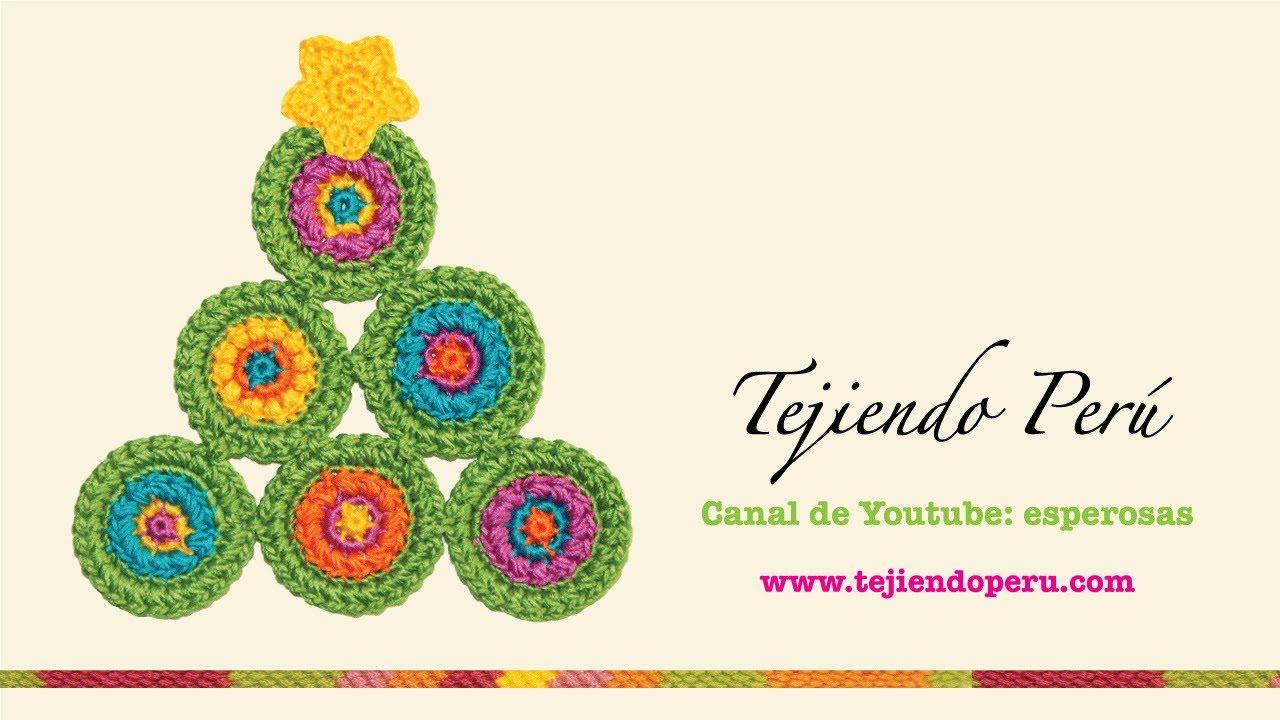 Adorno árbol de Navidad de círculos tejido a crochet - YouTube