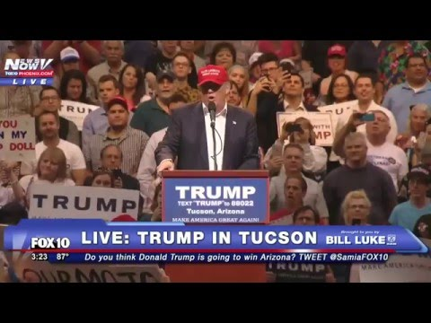 FULL COVERAGE: Donald Trump Rally in Tucson, Arizona - FNN