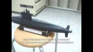 Papercraft Royal Netherlands Navy Walrus class submarine