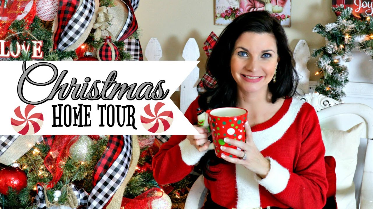 """COZY DIY CHRISTMAS HOME TOUR 2019🎄ENTIRE HOUSE """"I LOVE CHRISTMAS"""" ep31 OLIVIAS ROMANTIC HOME DIY ..."""
