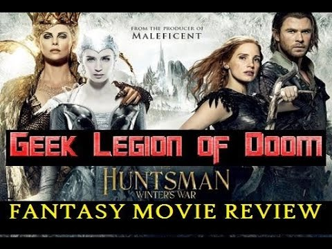 THE HUNTSMAN : A WINTER'S WAR ( 2016 Chris Hemsworth )  Fantasy Movie Review